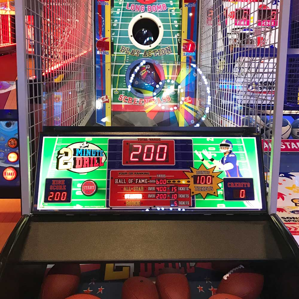 2 Minute Drill Game at Arcade